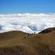 Hiking in the Hills above the Sea of Clouds on Mount Pulag, Philippines