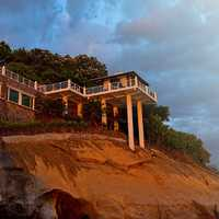 House on the Seaside on cliff