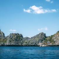 Rocks, shoreline, and Landscape at El Nido, Philippines