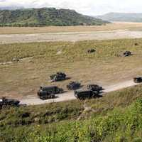 Tactical Vehicles moving in the Philippines