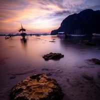 Watercraft in the Bay at El Nido, Philippines