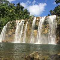 Waterfalls landscape in the Philippines