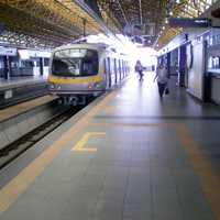 Subway Platform Area in Quezon City, Philippines