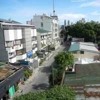 View of houses and street in Quezon City, Philippines