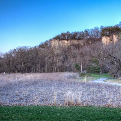Landscapes and bluffs at Siewer Springs State Park, Iowa
