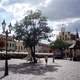 Historic Market Square with clouds in Rzeszow