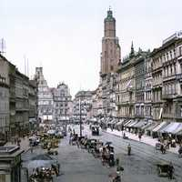 Market Square around 1900 in Wroclaw