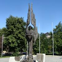 Monument to the works in the 1970 Anti-communist protests in Szczecin