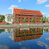The Old Port Granary built in 1835 in Bydgoszcz