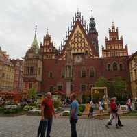 Old Town Hall in the Market Square in Wroclaw