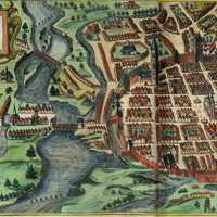 Posnania in 1617 from the north in Poland