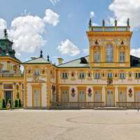 Front View of the Wilanów Palace in Warsaw, Poland