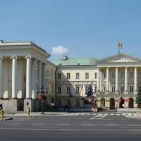 Neoclassical Commission Palace in Warsaw, Poland