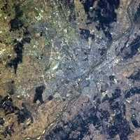 Satellite Image of the City of Warsaw