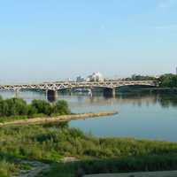 Vistula river landscape in Warsaw, Poland