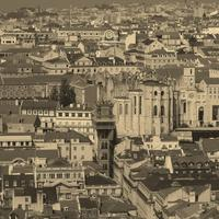 Black and White Photo of Lisbon, Portugal