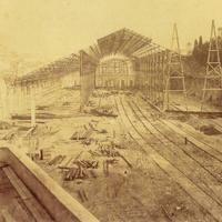 Construction of Russio Station in Lisbon, Portugal
