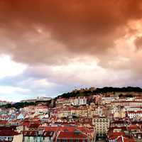 Dramatic Clouds over Lisbon, Portugal