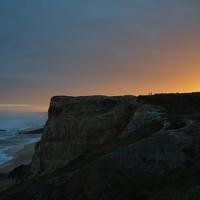 Sunset landscape at the Cliffs Peniche, Portugal
