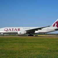 Qatar Airways Boeing 777 plane