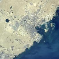 Satellite Image of Doha, Qatar