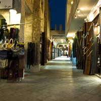 Souq Waqif, Doha, Qatar stores at night