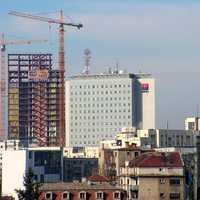 Bucharest Tower Center Under Construction in 2007