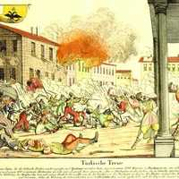 Ottoman Massacre of Greek Irregulars in 1821 in Bucharest, Romania