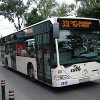 Public Bus Transportation in Bucharest, Romania