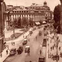 Victory Avenue in 1940 in Bucharest, Romania