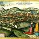 Drawing of Cluj in 1617 in Romania