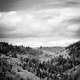 Black and white landscape of suceava, Romania