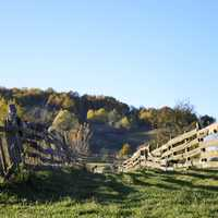 Landscape and fences in Casva, Romania