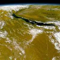 Lake Baikal Satellite View