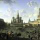 Red Square painting of Moscow, Russia in 1801