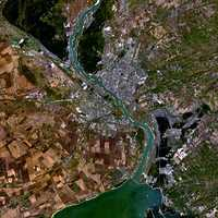 Satellite Image of Novosibirsk, Russia