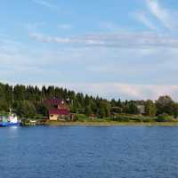 Ladoga lake scenery in Russia