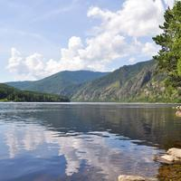Landscape and Lake in the summer in Russia