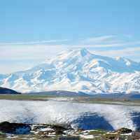 Snow-capped Mount Elbrus, Highest Point in Russia