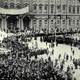 Bolsheviks storming the capital at St. Petersburg, Russia to start the Russian Revolution