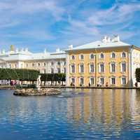 Building Across the Water in Saint Petersburg, Russia