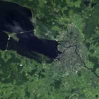 Satellite Image of Saint Petersburg in Russia