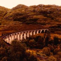 Aqueduct Landscape with hills in Scotland