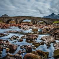 Bridge and Mountains in Scotland