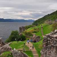 Clouds over Urquhart Castle and the Loch Ness