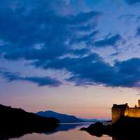 Dusk landscape at Kyle of Lochalsh, United Kingdom