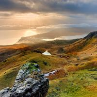 Magnificient Landscape View at the Isle of the Skye