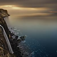 Shoreline and Waterfall at Isle of Skye