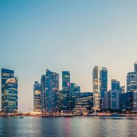 Skyline at Dusk in Singapore
