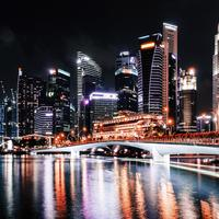 Towers, bridge, skyscrapers, and Cityscape in Singapore